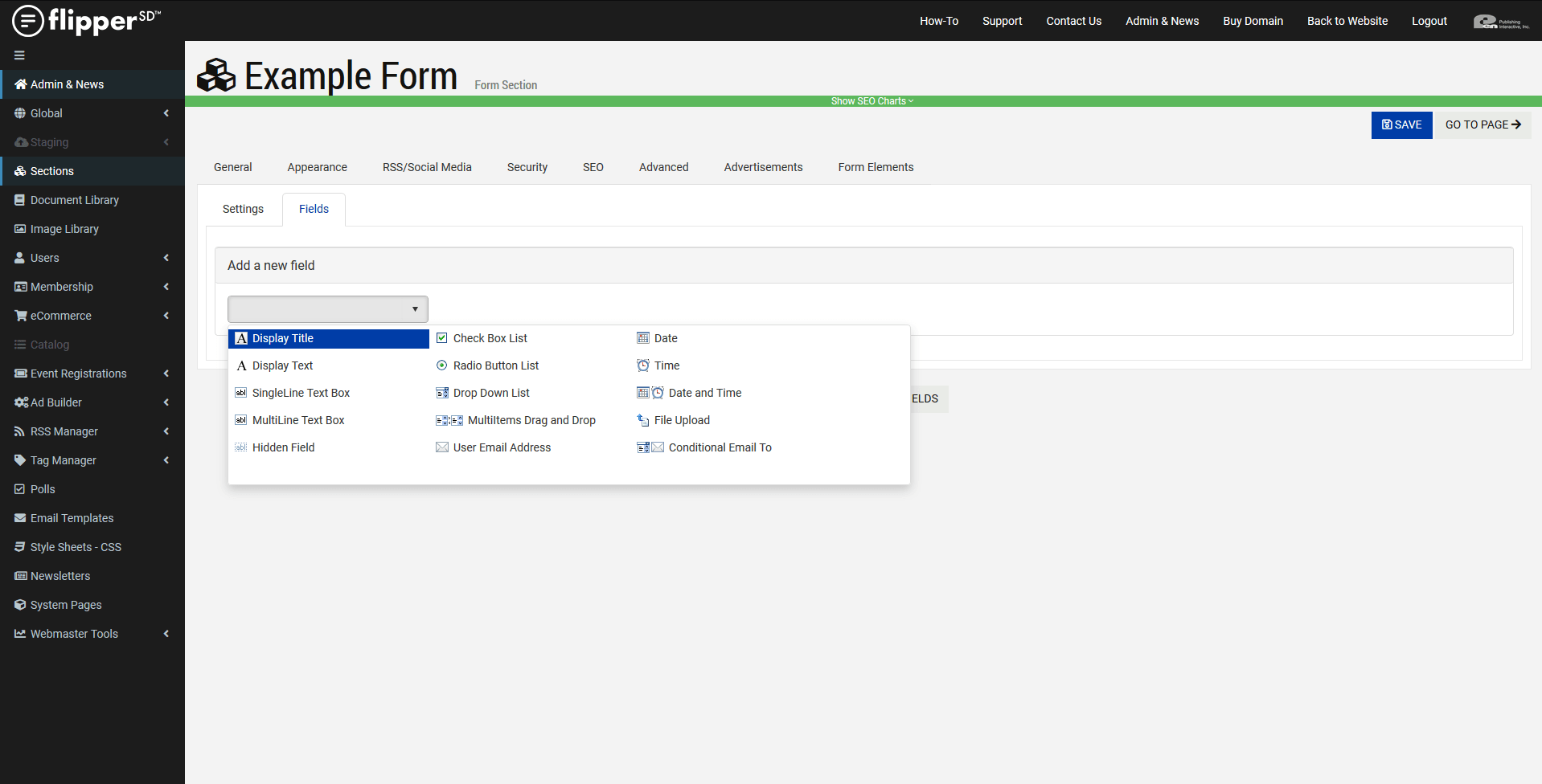 FormBuilder-Add New Field