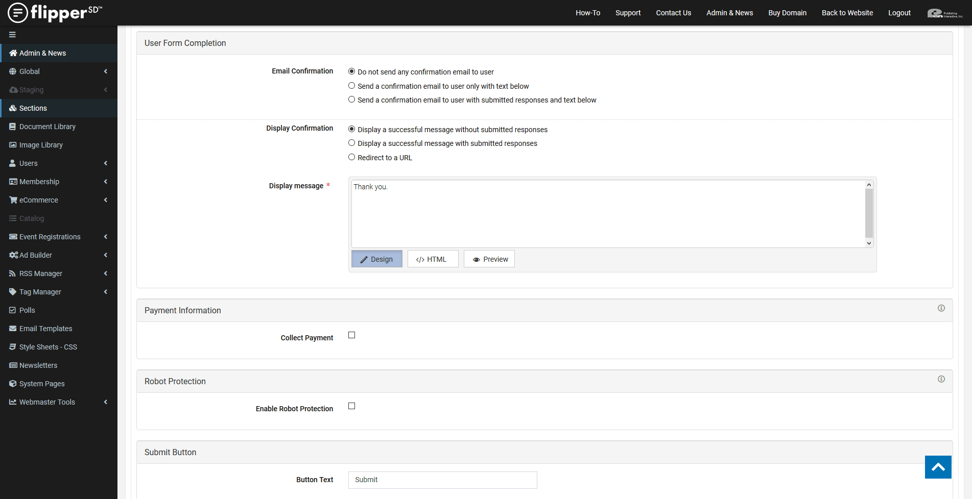 FormBuilder-Settings