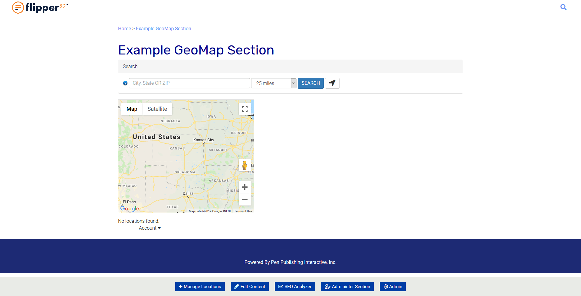 GeoMap-Page View