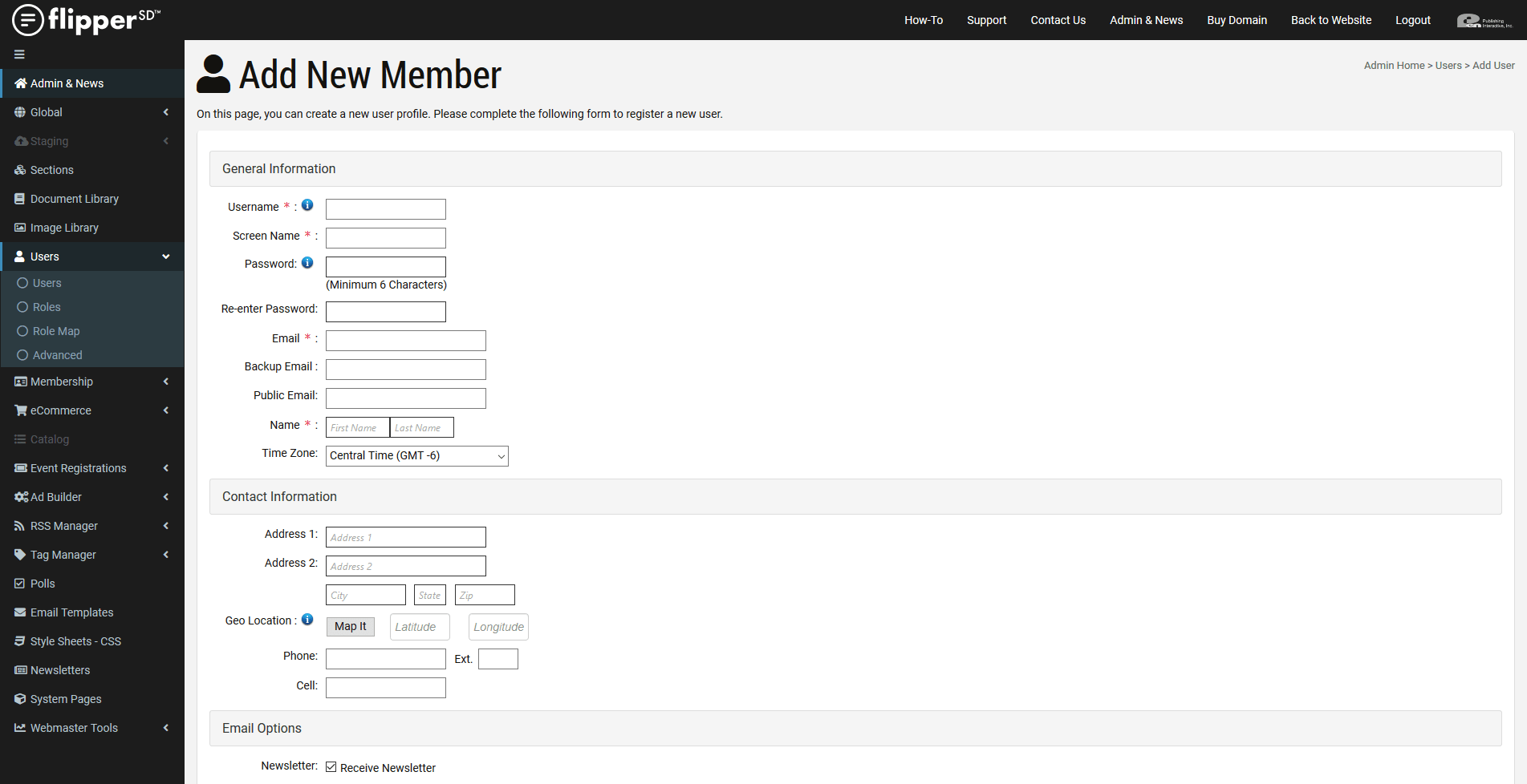Membership-Add New Member