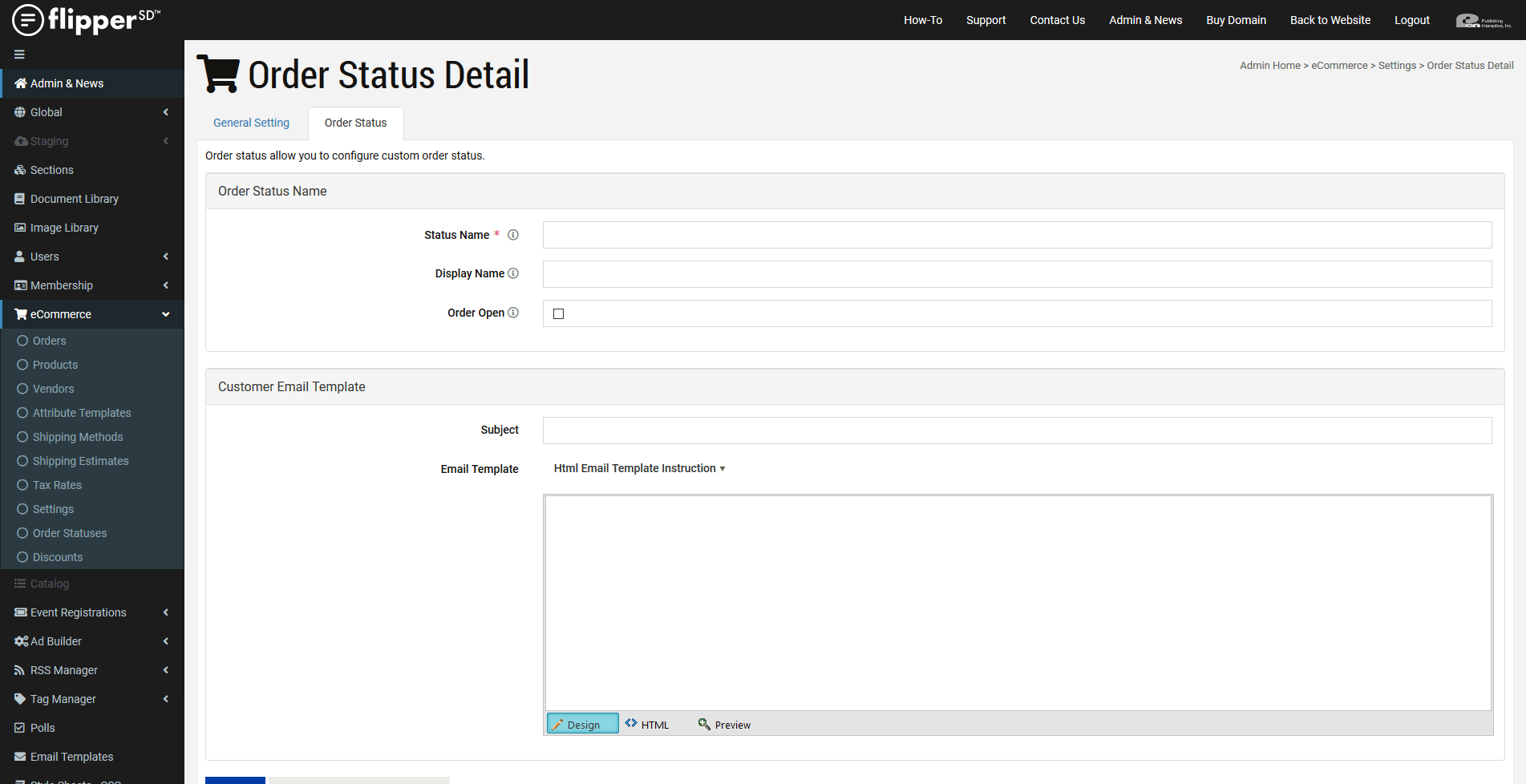 eCommerce-Add New Order Status